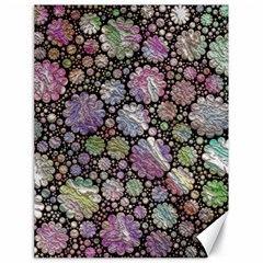 Sweet Allover 3d Flowers Canvas 18  x 24