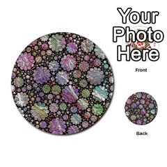 Sweet Allover 3d Flowers Multi Purpose Cards (round)