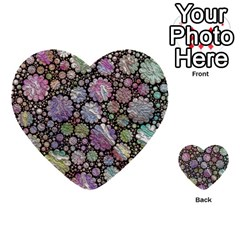Sweet Allover 3d Flowers Multi-purpose Cards (Heart)