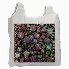 Sweet Allover 3d Flowers Recycle Bag (One Side)