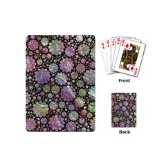 Sweet Allover 3d Flowers Playing Cards (Mini)