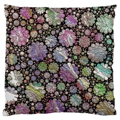 Sweet Allover 3d Flowers Large Cushion Cases (One Side)