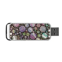 Sweet Allover 3d Flowers Portable USB Flash (Two Sides)