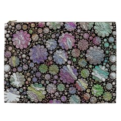 Sweet Allover 3d Flowers Cosmetic Bag (XXL)
