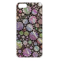 Sweet Allover 3d Flowers Apple iPhone 5 Seamless Case (White)