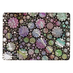Sweet Allover 3d Flowers Samsung Galaxy Tab 10.1  P7500 Flip Case