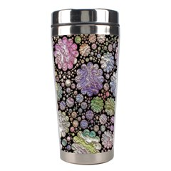 Sweet Allover 3d Flowers Stainless Steel Travel Tumblers