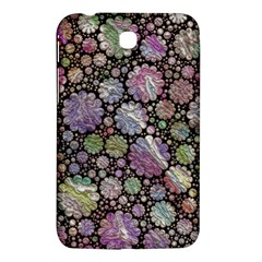 Sweet Allover 3d Flowers Samsung Galaxy Tab 3 (7 ) P3200 Hardshell Case