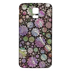 Sweet Allover 3d Flowers Samsung Galaxy S5 Back Case (white)