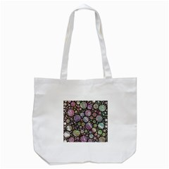 Sweet Allover 3d Flowers Tote Bag (White)