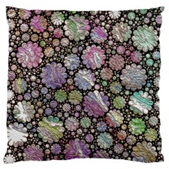 Sweet Allover 3d Flowers Standard Flano Cushion Cases (two Sides)