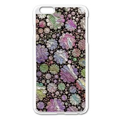 Sweet Allover 3d Flowers Apple Iphone 6 Plus Enamel White Case