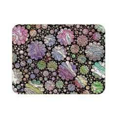 Sweet Allover 3d Flowers Double Sided Flano Blanket (mini)