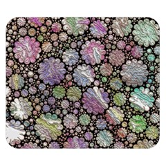 Sweet Allover 3d Flowers Double Sided Flano Blanket (Small)