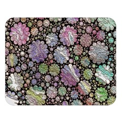 Sweet Allover 3d Flowers Double Sided Flano Blanket (Large)