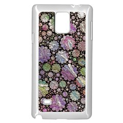 Sweet Allover 3d Flowers Samsung Galaxy Note 4 Case (White)