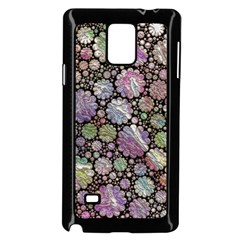 Sweet Allover 3d Flowers Samsung Galaxy Note 4 Case (Black)