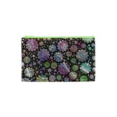 Sweet Allover 3d Flowers Cosmetic Bag (xs)