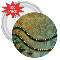 Elegant Vintage With Pearl Necklace 3  Buttons (100 pack)