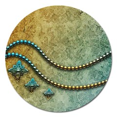 Elegant Vintage With Pearl Necklace Magnet 5  (Round)