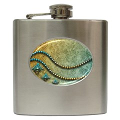 Elegant Vintage With Pearl Necklace Hip Flask (6 oz)