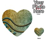 Elegant Vintage With Pearl Necklace Multi-purpose Cards (Heart)  Back 41