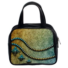 Elegant Vintage With Pearl Necklace Classic Handbags (2 Sides)