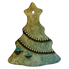 Elegant Vintage With Pearl Necklace Christmas Tree Ornament (2 Sides)