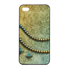 Elegant Vintage With Pearl Necklace Apple Iphone 4/4s Seamless Case (black)