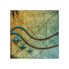 Elegant Vintage With Pearl Necklace Acrylic Tangram Puzzle (4  x 4 )