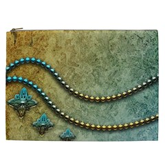 Elegant Vintage With Pearl Necklace Cosmetic Bag (XXL)