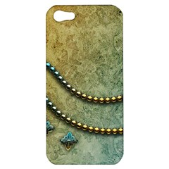 Elegant Vintage With Pearl Necklace Apple iPhone 5 Hardshell Case