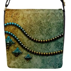 Elegant Vintage With Pearl Necklace Flap Messenger Bag (S)