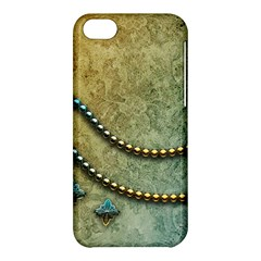 Elegant Vintage With Pearl Necklace Apple iPhone 5C Hardshell Case