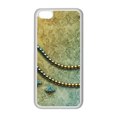 Elegant Vintage With Pearl Necklace Apple iPhone 5C Seamless Case (White)