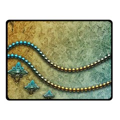 Elegant Vintage With Pearl Necklace Double Sided Fleece Blanket (Small)