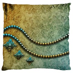 Elegant Vintage With Pearl Necklace Standard Flano Cushion Cases (two Sides)