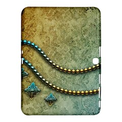 Elegant Vintage With Pearl Necklace Samsung Galaxy Tab 4 (10.1 ) Hardshell Case