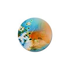 Wonderful Flowers In Colorful And Glowing Lines Golf Ball Marker (10 pack)