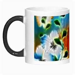 Wonderful Flowers In Colorful And Glowing Lines Morph Mugs