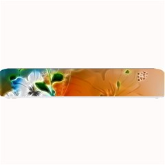 Wonderful Flowers In Colorful And Glowing Lines Small Bar Mats