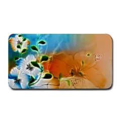 Wonderful Flowers In Colorful And Glowing Lines Medium Bar Mats