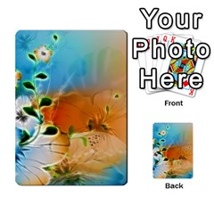 Wonderful Flowers In Colorful And Glowing Lines Multi Purpose Cards (rectangle)