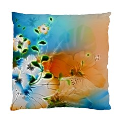 Wonderful Flowers In Colorful And Glowing Lines Standard Cushion Cases (Two Sides)