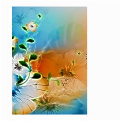 Wonderful Flowers In Colorful And Glowing Lines Small Garden Flag (Two Sides)