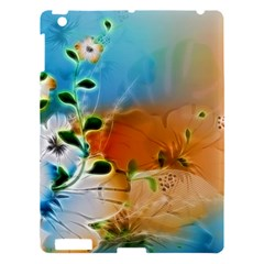 Wonderful Flowers In Colorful And Glowing Lines Apple iPad 3/4 Hardshell Case