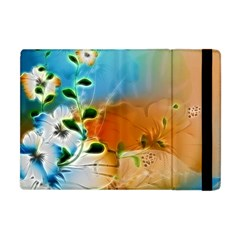 Wonderful Flowers In Colorful And Glowing Lines Apple iPad Mini Flip Case
