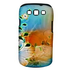 Wonderful Flowers In Colorful And Glowing Lines Samsung Galaxy S III Classic Hardshell Case (PC+Silicone)