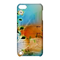 Wonderful Flowers In Colorful And Glowing Lines Apple iPod Touch 5 Hardshell Case with Stand