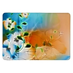 Wonderful Flowers In Colorful And Glowing Lines Samsung Galaxy Tab 8 9  P7300 Flip Case